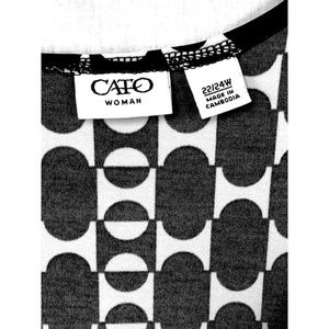 Cato Tops - Cute Buckle Accent Caplet Sleeve Top Plus 22/24